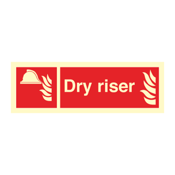 Dry riser - Fire Signs