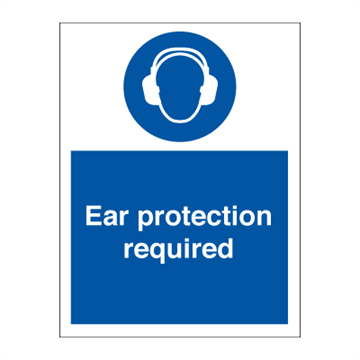 Ear protection required - Mandatory Signs