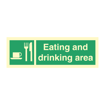 Eating and drinking area - Direction Signs