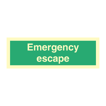 Emergency Escape - Direction Signs