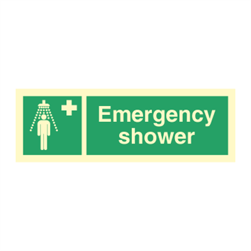 Emergency shower - Direction Signs
