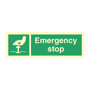 Emergency stop - Direction Signs