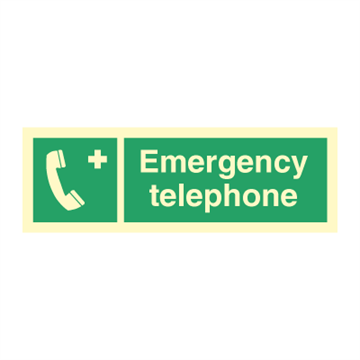 Emergency telephone - Direction Signs