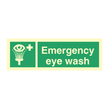 Emergency eye wash - Direction Signs