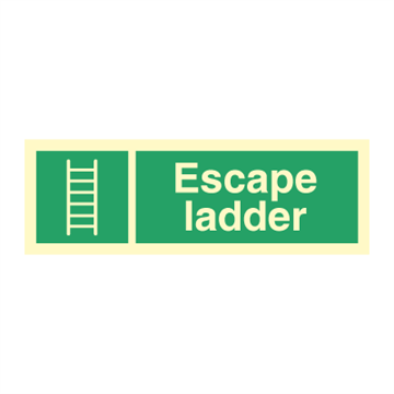 Escape ladder - Direction Signs