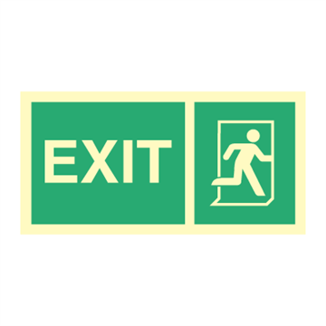 EXIT sign - direction signs