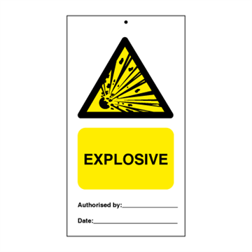 Explosive (packed in 10) - Tie Tags
