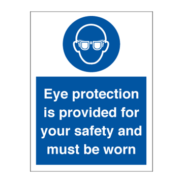 Eyeprotection is provided for - Mandatory Signs