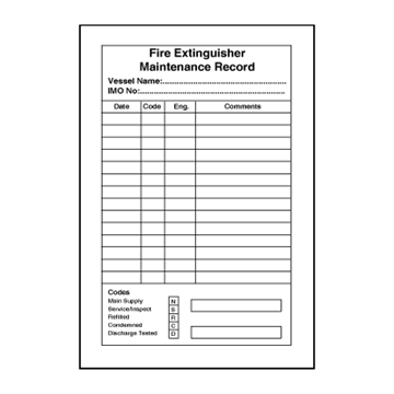 Fire Extinguisher Maintenance Record - fire signs