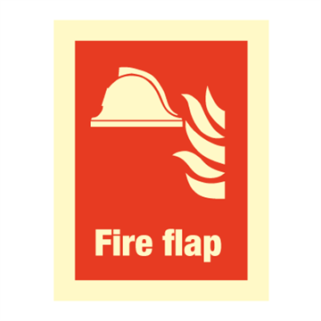Fire flap - Fire Signs