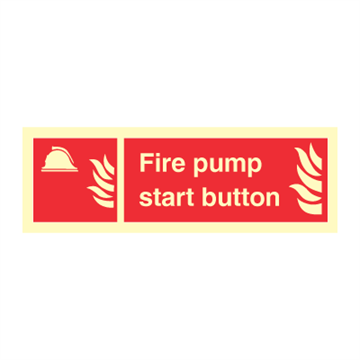 Fire pump start button - Fire Signs