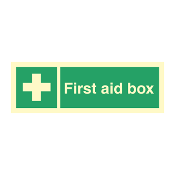 First aid box - Direction Signs