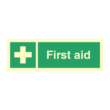 First aid - Direction Signs
