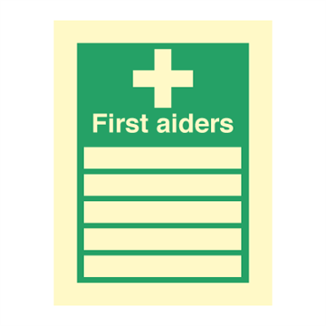 First Aiders - Direction Signs