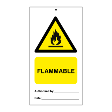 Flammable (packed in 10) - Tie Tags
