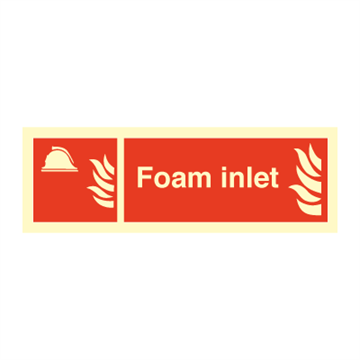 Foam Inlet - Fire Signs