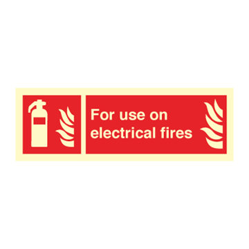 For use on electrical fires - Fire Signs