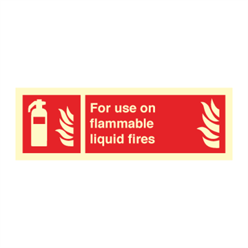 For use on flammable - Fire Signs
