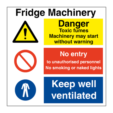 Fridge Machinery - Combination Signs