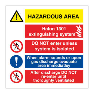 Hazardous area FM 200 - Combination Signs