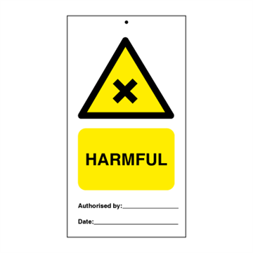 Harmful (packed in 10) - Tie Tags