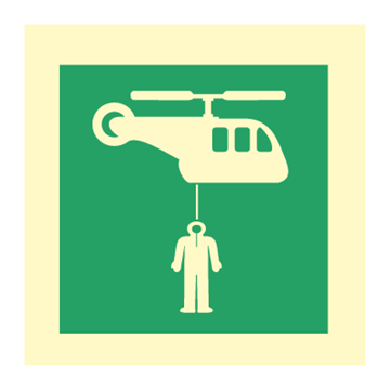 Helicopter pickup area - IMO Symbols