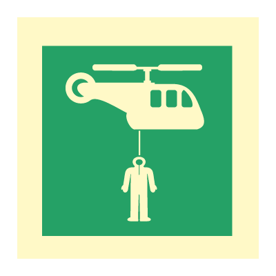 Helicopter pickup area
