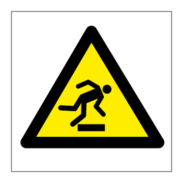 Caution Mind the step - Hazard & Warning Signs
