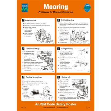 Mooring - Safety and awareness posters