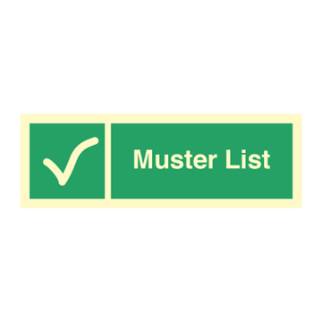 Muster List - Emergency Signs