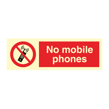 No mobile phone - Prohibition Signs