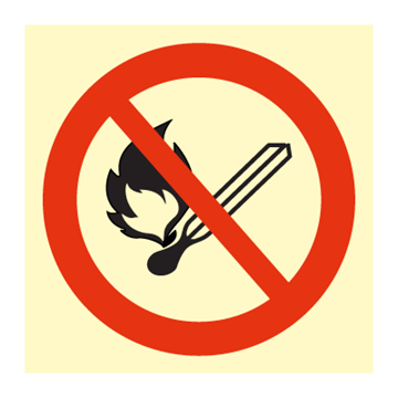 No naked flames - Prohibition Signs