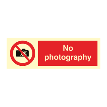 No photography - Prohibition Signs