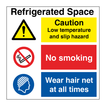 Refrigerated space - Combination Signs