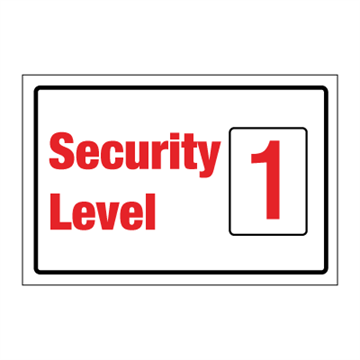 Security level 1 - ISPS Code Sign