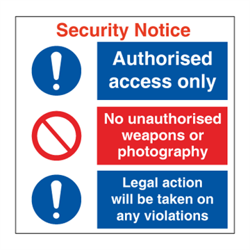 Security Notice - Combination Signs