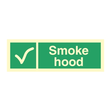 Smoke hood - Direction Signs