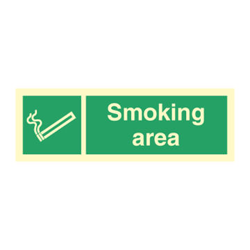 Smoking area - Direction Signs