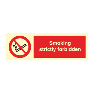 Smoking strictly forbidden - Prohibition Signs
