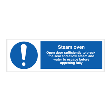 Steam oven - Mandatory Signs