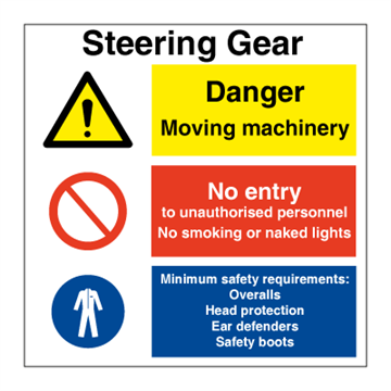 Steering gear - Combination Signs