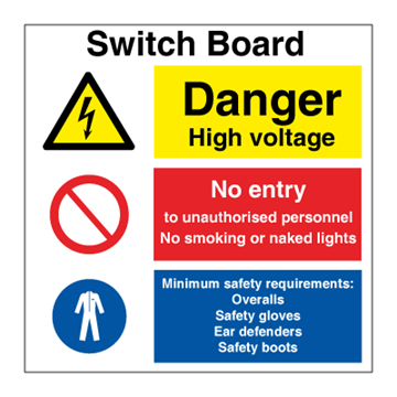 Switch gear - Combination Signs