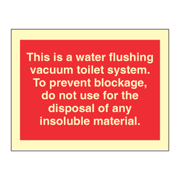 This is a water flushing toilet - prohibition signs