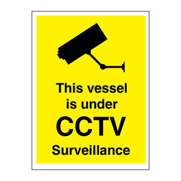 This vessel is under CCTV surveillance - ISPS Code Signs