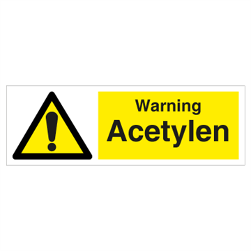 Acetylene - Hazard & Warning Signs