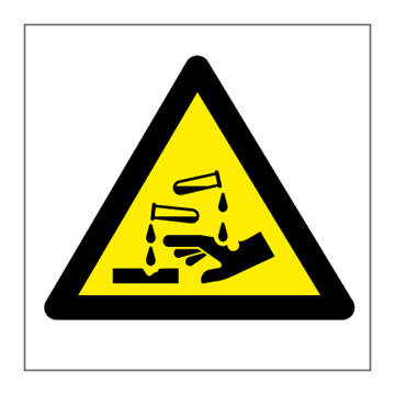 Acid - Hazard & Warning Signs