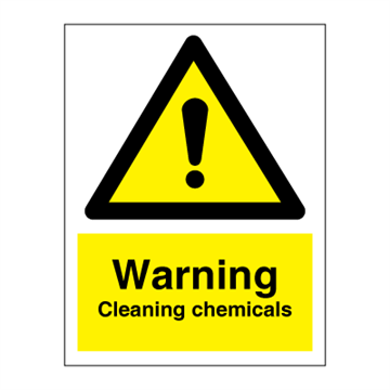 Warning - Cleaning chemicals - Hazard & Warning Signs
