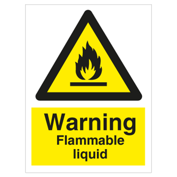 Warning Flammable liquid