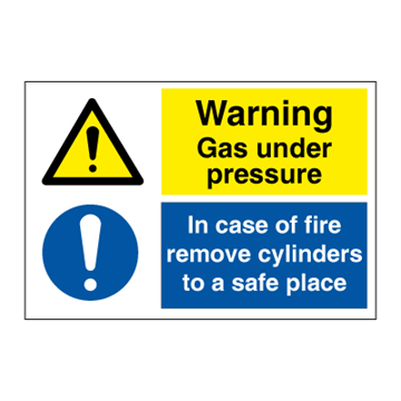 Warning gas under pressure - Combination Signs