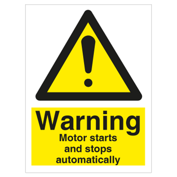 Warning Motor starts and